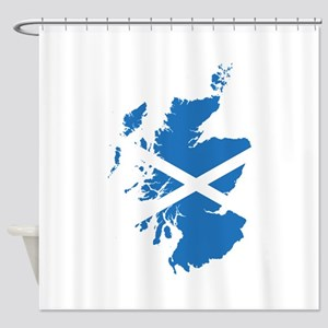 Flag Map of Scotland Shower Curtain