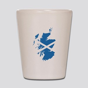 Flag Map of Scotland Shot Glass