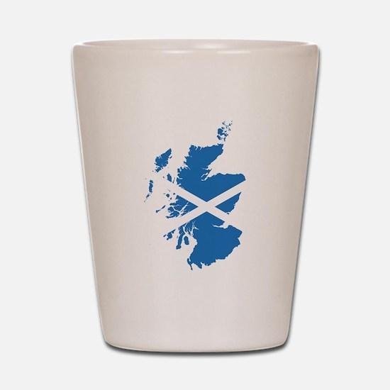 Flag Map of Scotland Shot Glass
