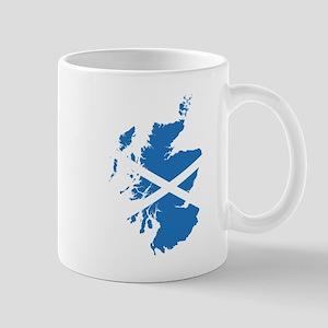 Flag Map of Scotland Mug