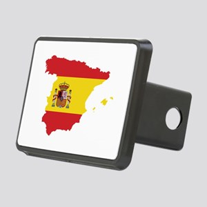 Flag Map of Spain Rectangular Hitch Cover