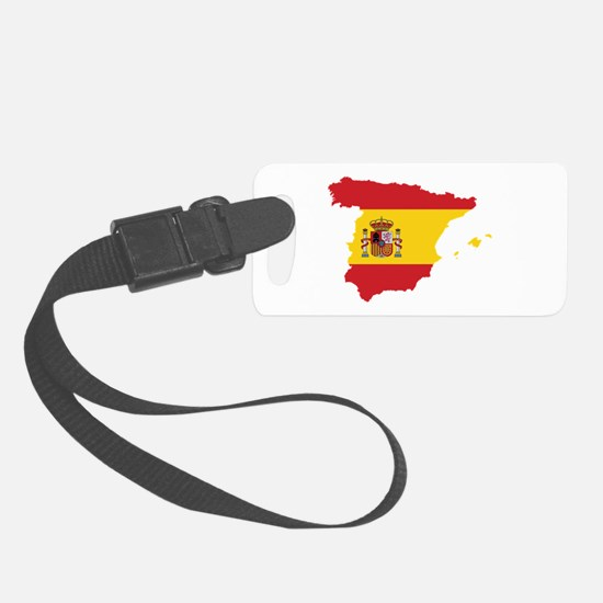 Flag Map of Spain Luggage Tag