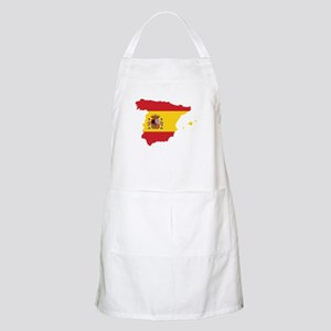 Flag Map of Spain Apron