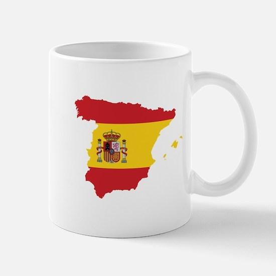 Flag Map of Spain Mug