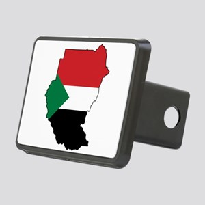 Flag Map of Sudan Rectangular Hitch Cover