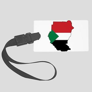 Flag Map of Sudan Large Luggage Tag