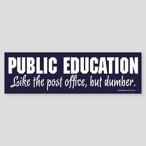 Public Education Bumper Sticker