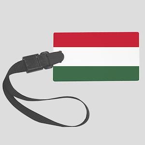 Flag of Hungary Large Luggage Tag