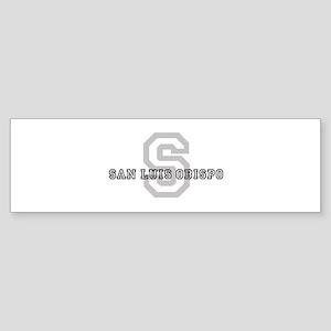 San Luis Obispo (Big Letter) Bumper Sticker