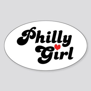 Philly Girl Oval Sticker