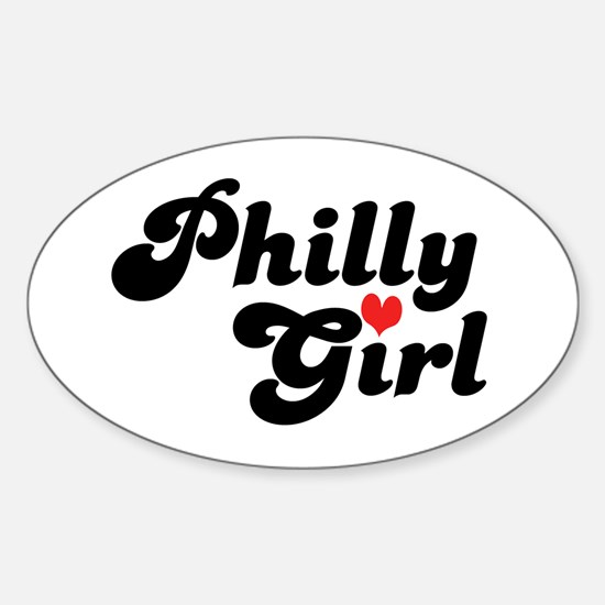 Philly Girl Oval Decal