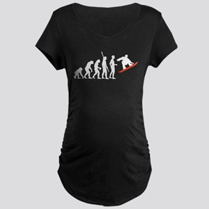 evolution snowboard Maternity Dark T-Shirt