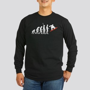 evolution snowboard Long Sleeve Dark T-Shirt