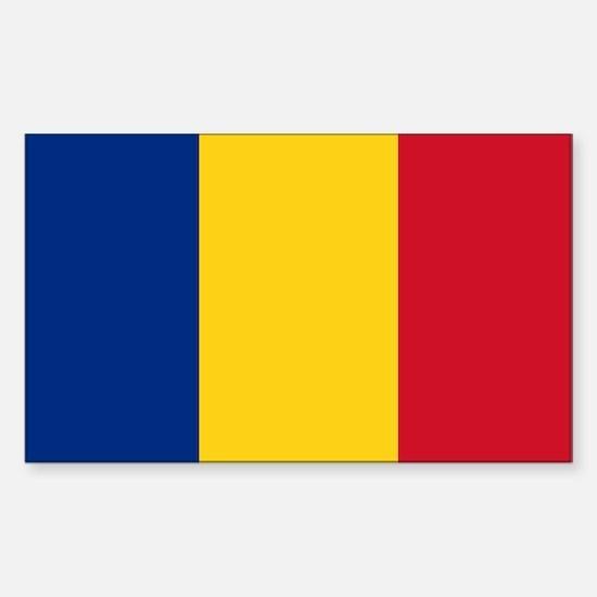 Flag of Romania Sticker (Rectangle)