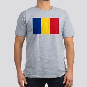 Flag of Romania Men's Fitted T-Shirt (dark)