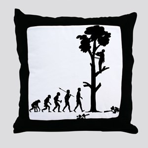 Tree Trimmer Throw Pillow
