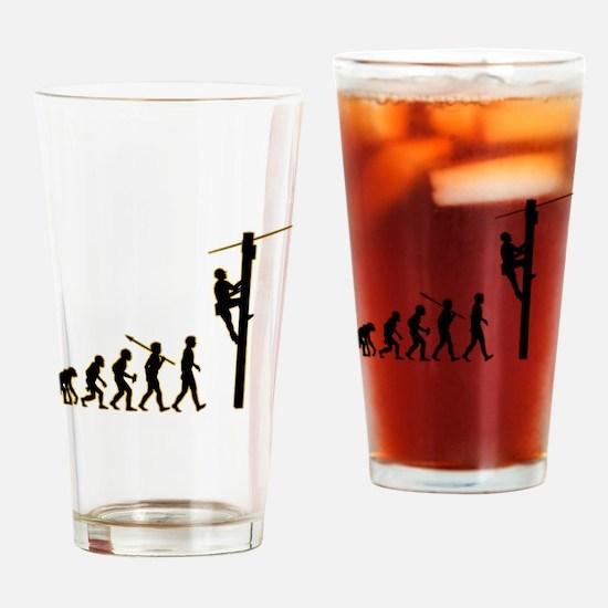 Telephone Technician Drinking Glass