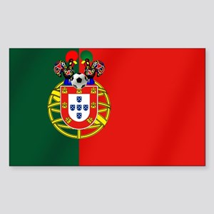 Portugal Football Flag Sticker (Rectangle)
