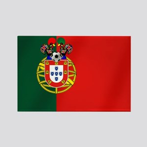 Portugal Football Flag Rectangle Magnet