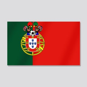 Portugal Football Flag 20x12 Wall Decal