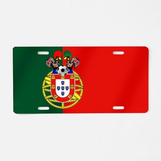 Portuguese Football Flag Aluminum License Plate