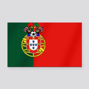 Portugal Football Flag Rectangle Car Magnet