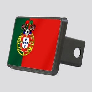 Portugal Football Flag Rectangular Hitch Cover