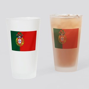 Portugal Football Flag Drinking Glass