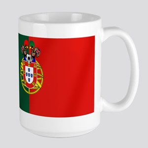 Portugal Football Flag 15 oz Ceramic Large Mug