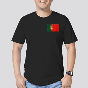 Portugal Football Flag Men's Fitted T-Shirt (dark)