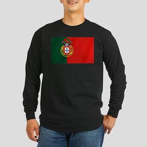 Portugal Football Flag Long Sleeve Dark T-Shirt