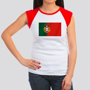 Portugal Football Flag Junior's Cap Sleeve T-Shirt