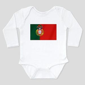 Portugal Football Flag Long Sleeve Infant Bodysuit