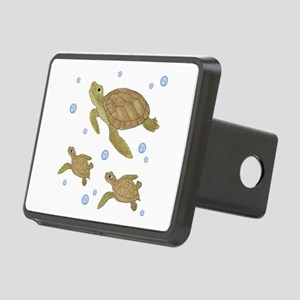 Sea Turtle Family Rectangular Hitch Cover