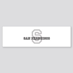 San Francisco (Big Letter) Bumper Sticker