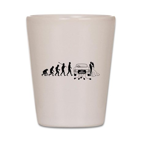 Just Married Shot Glass