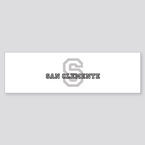 San Clemente (Big Letter) Bumper Sticker