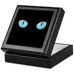 Blue Cat Eyes Keepsake Box