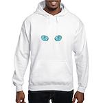 Blue Cat Eyes Hooded Sweatshirt