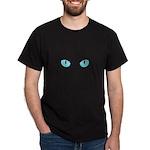 Blue Cat Eyes Dark T-Shirt