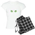 Green Cat Eyes Women's Light Pajamas