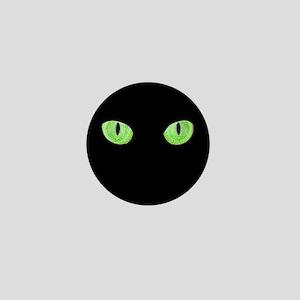 Green Cat Eyes Mini Button