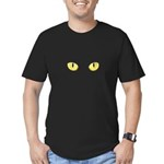Amber Cat Eyes Men's Fitted T-Shirt (dark)
