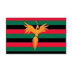 Aboriginal Moabite Nation Flag 20x12 Wall Decal