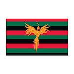 Aboriginal Moabite Nation Flag Rectangle Car Magne