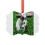 FAINTING GOAT Picture Ornament