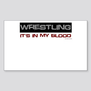Wrestling in blood Sticker (Rectangle)