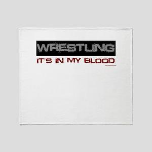 Wrestling in blood Throw Blanket