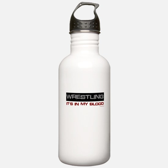 Wrestling in blood Water Bottle
