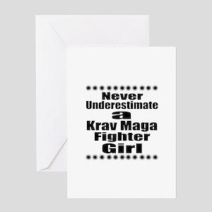 Never Underestimate Krav Maga Fighte Greeting Card